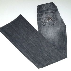 7 For All Mankind Womens 24 Black Wash Distressed